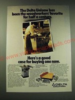 1987 Delta Unisaw Ad - The Delta Unisaw has been the woodworkers favorite
