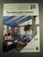 1987 Pella Windows Ad - The Sunday Paper Sunroom