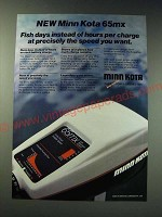 1987 Minn Kota 65mx Fishing Motor Ad - Fish days instead of Hours