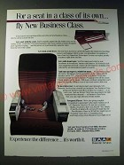 1987 SAA South African Airways Ad - For a seat in a class of its own