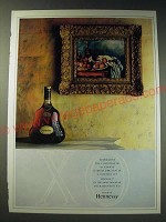 1987 Hennessy X.O. Cognac Ad - To preserve the condition of a Cezanne