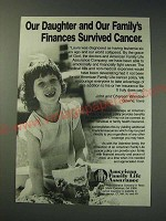 1987 American Family Life Assurance Ad - Our daughter and our family's finances