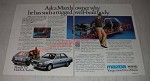 1987 Mazda 323 Car Ad - why he has such a rugged well-built body