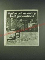 1987 Deft Clear Wood Finish Ad - You've put us on top for 3 generations