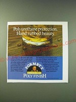 1987 Formby's Poly Finish Ad - Polyurethane protection. Hand rubbed beauty