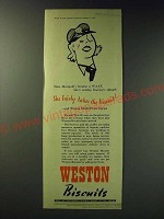 1942 Weston Biscuits Ad - No Marigold's become a WAAF