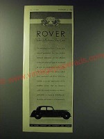 1942 Rover Cars Ad - Rover One of Britain's Fine Cars