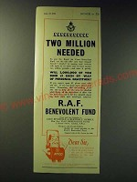 1942 Atco R.A.F. Benevolent Fund Ad - Two million needed