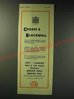 1942 C&B Crosse & Blackwell Food Ad