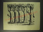 1942 Cartoon by Anton (Antonia Yeoman) - Trees with Rifle