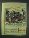 1942 Austin Cars Ad - From Austins to Austin owners Your speedometer proves it