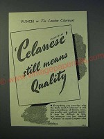 1942 Celanese Material Ad - Celanese still means quality