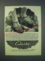 1942 Clarks Sandals Ad - There is less petrol, but miles of springy turf