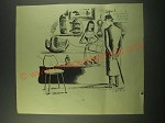1952 Cartoon by Anton (Antonia Yeoman) - Contemporary Sculpture Paintings