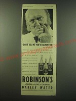 1940 Robinson's Barley Water Ad - Don't tell me you've caught Flu