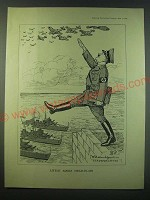 1940 Cartoon by Bernard Partridge - Little Adolf Head-in-Air