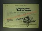 1940 Wolseley Used Cars Ad - A solution to the used car problem