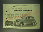 1940 Wolseley Ten Car Ad - Cut your running costs - but still enjoy performance