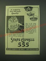 1940 State Express 555 Cigarettes Ad - As smoked by those who prefer quality