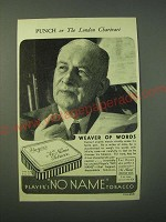 1940 Player's No Name Tobacco Ad - Weaver of Words