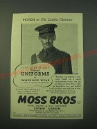1940 Moss Bros Officers' Uniforms Ad - Navy, Army & R.A.F. Officers' Uniforms