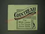 1940 Cointreau Liqueur Ad - The white liqueur in the square amber bottle