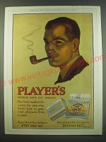 1930 Player's Medium Navy Cut Tobacco and Cigarettes Ad