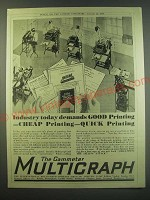 1930 International Multigraph Company Ad - Industry today demands good printing