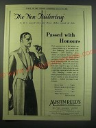 1930 Austin Reed Clothes Ad - The new tailoring the fit is assured