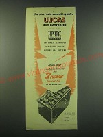 1953 Lucas Car Batteries Ad - You start with something extra Lucas Car Batteries