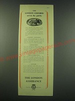 1953 The London Assurance Ad - The London Omnibus serves the public