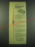 1953 The London Assurance Ad - Introducing the London Omnibus