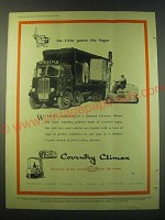 1953 Coventry Fork Lift Truck Ad - Mr. Cube passes the sugar