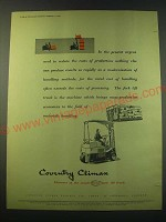 1953 Coventry Fork Lift Truck Ad - In the present urgent need to reduce