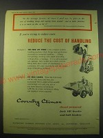 1953 Coventry Fork Lift Truck and Bulk Loader Ad - If you're trying to reduce