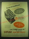 1953 Lucas Car Batteries Ad - You start with something extra