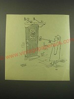 1953 Cartoon by Quentin Blake Ad - Door Knocker