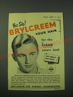 1953 Brylcreem Hair Dressing Ad - Yes Sir!