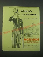 1953 Moss Bros Morning Suits Ad - When it's an occasion