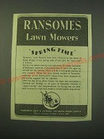 1942 Ransomes Lawn Mowers Ad - Ransomes Lawn Mowers Spring Time
