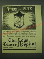 1942 The Royal Cancer Hospital Ad - Xmas 1942