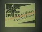 1942 AC Sphinx Spark Plugs Ad - As always - a quality product