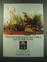 1988 Rayovac Super Heavy Duty Batteries Ad - When you're roughing it