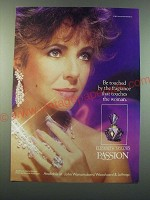 1988 Parfums International Elizabeth Taylor's Passion Perfume Ad - Be touched