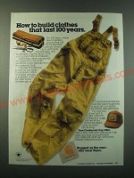 1988 Carhartt Clothes Ad - How to build clothes that last 100 years