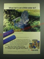 1988 Rust-Oleum Wood Saver Ad - What harm can a little water do?