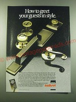 1988 Emhart Kwikset Door Hardware Ad - How to greet your guests in style