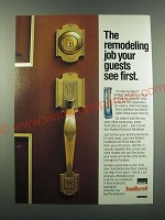 1988 Emhart Kwikset Entrance Handleset Ad - The remodeling job your guests see