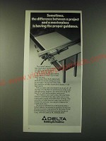 1988 Delta Unifence Saw Guide Ad - Sometimes the difference between a project