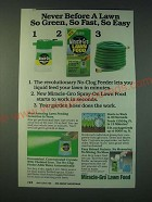1988 Miracle-Gro Lawn Food Ad - Never before a lawn so green, so fast, so easy